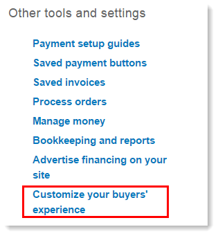 PayPal_Customize_Experience